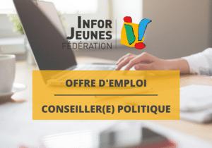 La Fédération Infor Jeunes recherche un(e) CONSEILLER(E) POLITIQUE