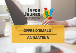 Offre d'emploi : animateur/trice (Infor Jeunes Malmedy)