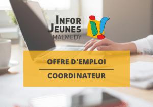 Offre d'emploi : coordinateur/trice (Infor Jeunes Malmedy)
