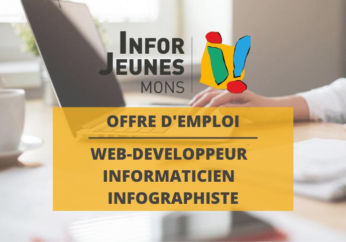 Offre d'emploi : Web developpeur – Informaticien – Infographiste (Infor Jeunes Mons)